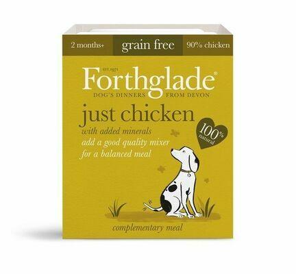 18 x 395g Forthglade Just Chicken Natural Wet Dog Food
