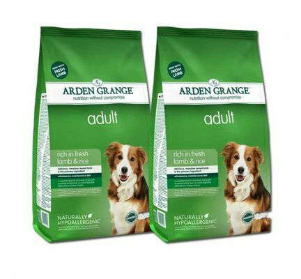 Arden Grange Lamb & Rice Adult Dry Dog Food Multibuy