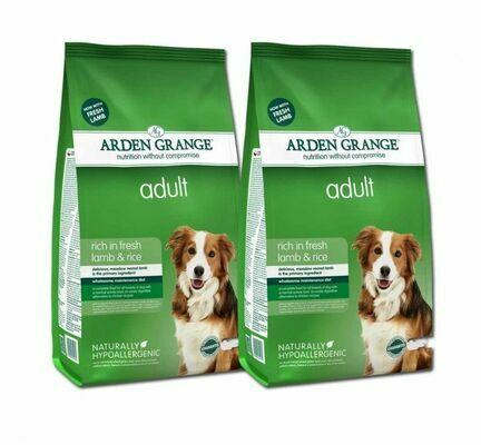 2 x 12kg Arden Grange Lamb & Rice Adult Dry Dog Food Multibuy