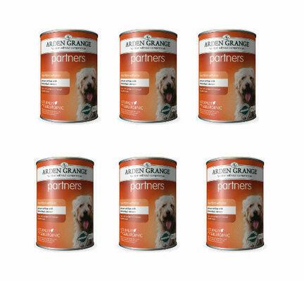 6 x Arden Grange Partners Chicken & Rice Wet Dog Food