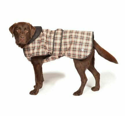 Danish Design Luxury Classic Check Waterproof Dog Coat