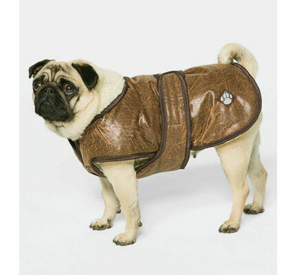 Danish Design Waggles Flying Jacket Dog Coat in Brown