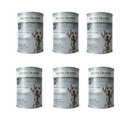 Arden Grange Partners Sensitive Fish & Potato Wet Dog Food - Cases Of 6