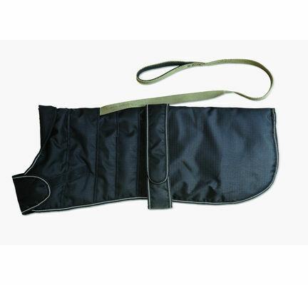 Danish Design Black Harness Waterproof Dog Coat