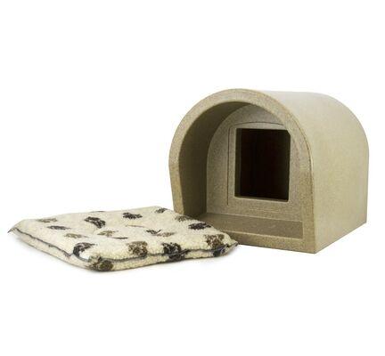 Mr Snugs Katden Cat Kennel With Pet Mattress - Sandstone