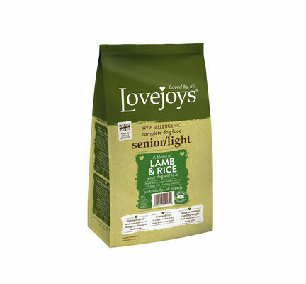 Lovejoys Hypoallergenic Senior/Light Lamb & Rice Dry Dog Food