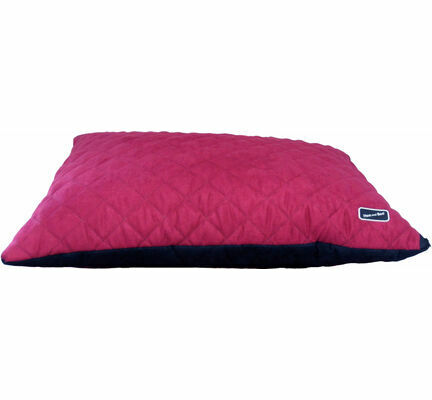 Hem & Boo Deep Filled Waterproof Duvet Dog Cushion - Black & Raspberry Crush