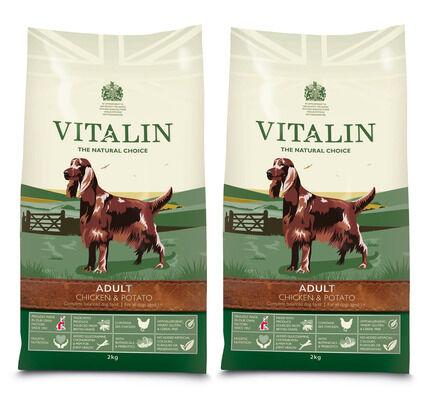 Vitalin Chicken & Potato Adult Dry Dog Food 2 x 12kg