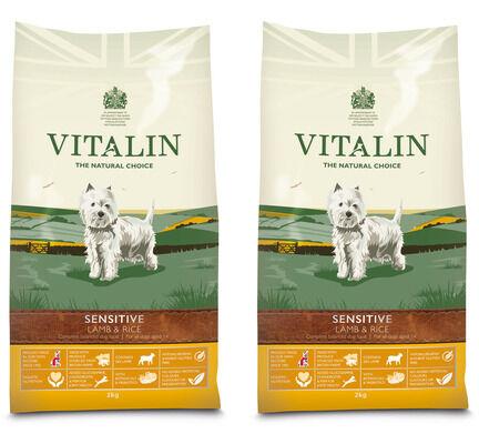 2 x 12kg Vitalin Sensitive Lamb & Rice Adult Dry Dog Food