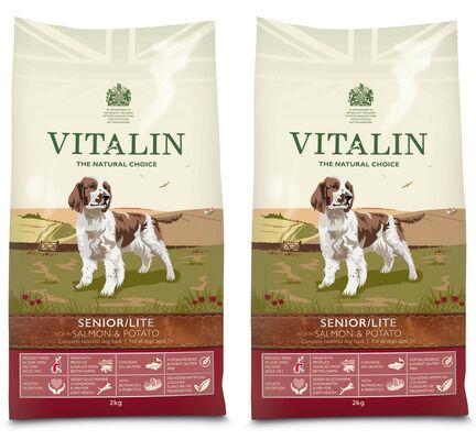 Vitalin Salmon & Potato Senior/Lite Dry Dog Food - 2 x 12kg