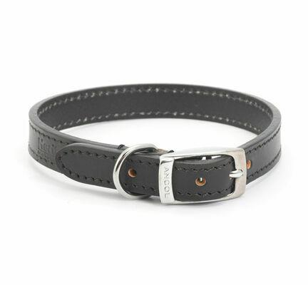 Ancol Heritage Leather Collar Black