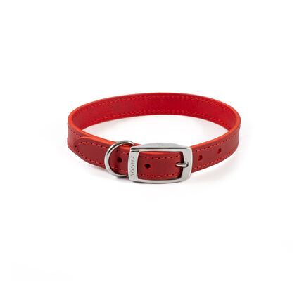 Ancol Heritage Leather Collar Red