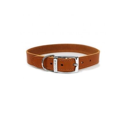 Ancol Heritage Leather Collar Tan