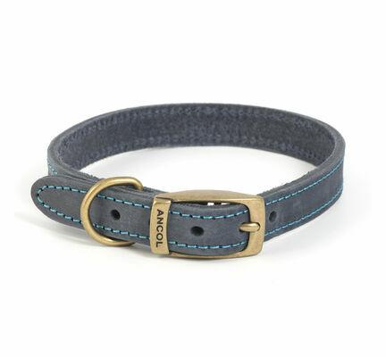 Ancol Timberwolf Leather Collar Blue
