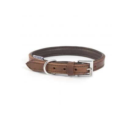Ancol Vintage Leather Padded Collar Chestnut