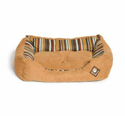 Danish Design Morocco Tan Stripe Rectangular Snuggle Dog Bed