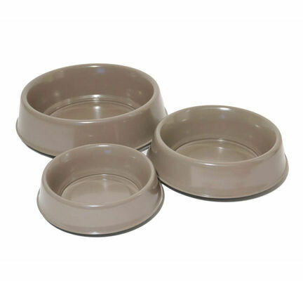 Rosewood Raised Stainless Steel Brown Dog Dish
