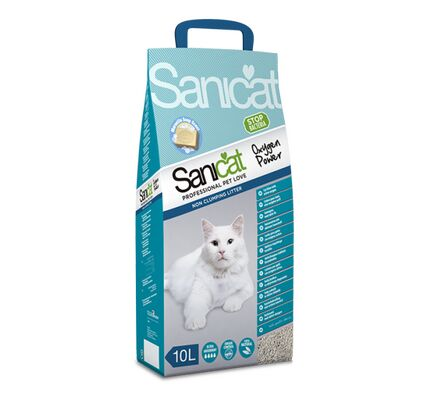 Sanicat Oxygen Power Clean Non-Clumping Cat Litter - 10L