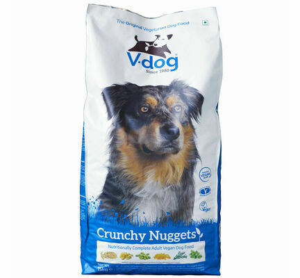V-Dog Crunchy Nuggets Complete Vegetarian Vegan Adult Dog Food 15kg