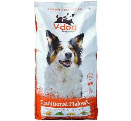 V-dog Vegetarian Traditional Flakes Vegan Adult Dog Food 15kg
