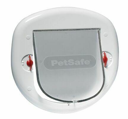PetSafe Staywell Manual 4 Way Locking Small Dog/Big Cat Flap White