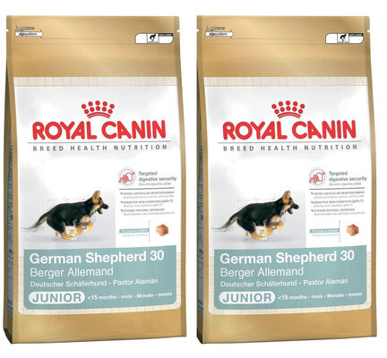 2 x 12kg - Royal Canin Multi-Buy German Shepherd 30 Dry Puppy (Junior Dog) Food