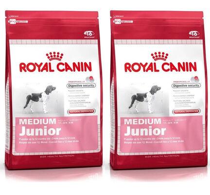 2 x 15kg - Royal Canin Multi-Buy Medium Breed Dry Puppy (Junior Dog) Food