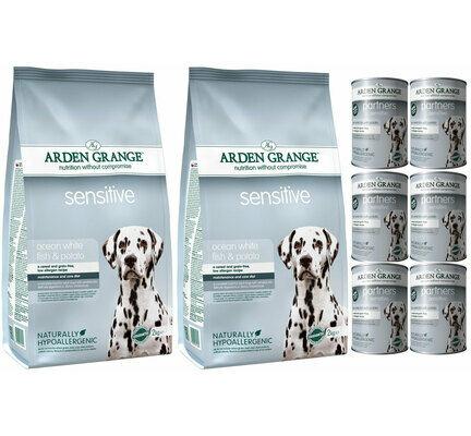Arden Grange Sensitive Fish & Potato Wet & Dry Dog Food Bundle