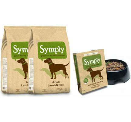 Symply Adult Lamb & Rice Wet & Dry Dog Food Bundle