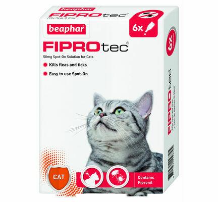 Beaphar Fiprotec Spot On Cat Flea & Tick Treatment (6 x Treatments)