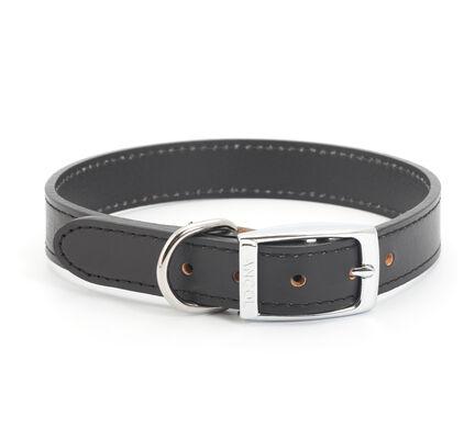 Ancol Black Classic Leather Dog Collar