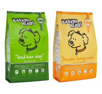 2 x 12kg Barking Heads Tender Loving Care/Bad Hair Day Dry Dog Food