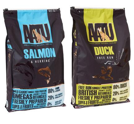 2 x 10kg AATU Multi Buy 80/20 Duck & Salmon Dry Dog Food