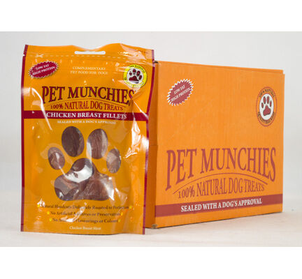 16 x Mix & Match Pet Munchies 100% Natural Dog Treats Pouch