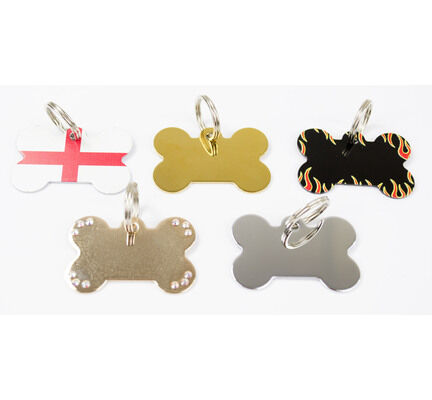 The Pet Express Bone Shaped Engravable Dog ID Tags