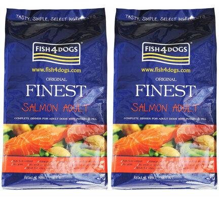 2 x 6kg Fish4Dogs Original Finest Salmon Small Bite Adult Dog Food Multibuy