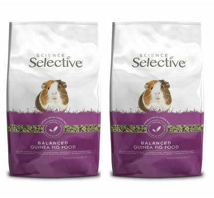 2 x 10kg Supreme Science Selective Dandelion Guinea Pig Food Multibuy
