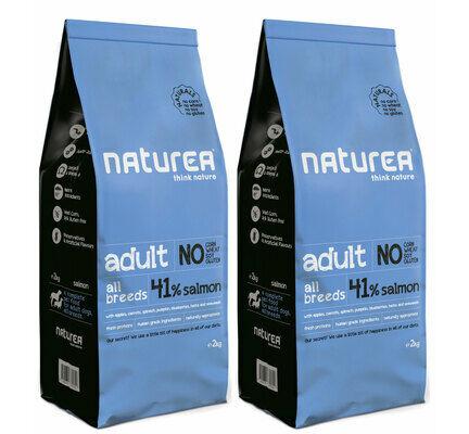 2 x 12kg Naturea Naturals Adult Salmon Dog Food Multibuy