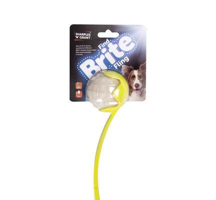 Sharples 'N' Grant Brite Fling Ball Launcher & Brite Ball Dog Toy