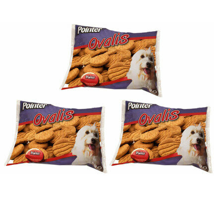 3 x 2kg Pointer Ovalis Dog Treats Multibuy