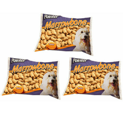 3 x 2kg Pointer Marrowbone Dog Treats Multibuy