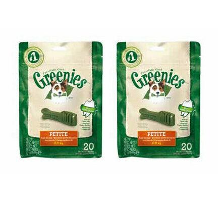 2 x 340g Greenies Original Petite Dog Dental Chews