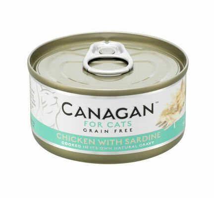 12 x 75g Canagan Chicken With Sardine Grain-Free Cat Food