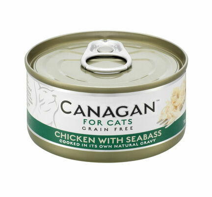 12 x 75g Canagan Chicken With Seabass Grain-Free Cat Food