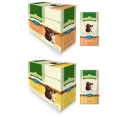 40 x 150g James Wellbeloved Puppy / Junior Turkey & Lamb Pouches Multibuy