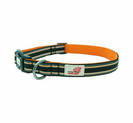 Long Paws Comfort Padded Dog Collar Black