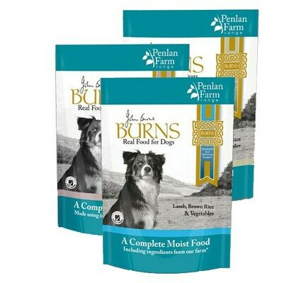 12 x 400g Burns Penlan Farm Complete Wet Dog Food Pouches Multi-Pack