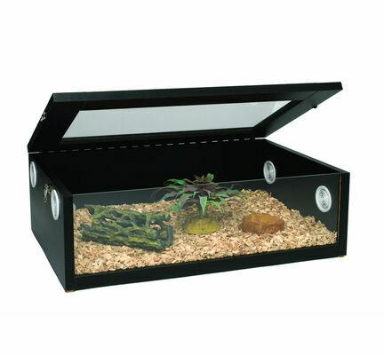 Monkfield Terrainium Large Reptile Vivarium - 24 Inch Black