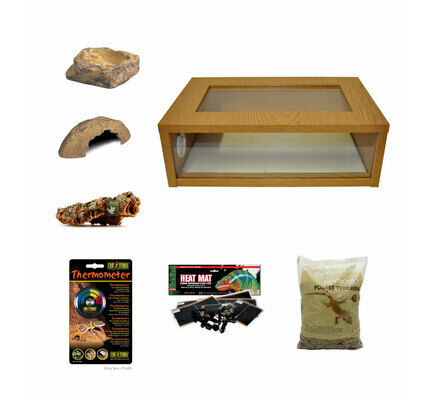 Medium Royal Python/Ball Python Starter Kit Monkfield Vivarium Oak (24 Inch)