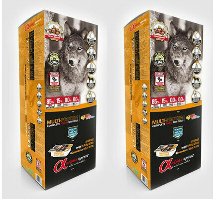 2 x 9.45kg - Alpha Spirit Multi Protein Semi-moist Complete Dog Food - Multi Buy